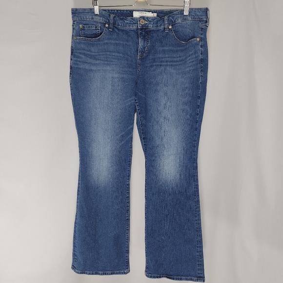 Torrid Denim Jeans 18R Slim Bootcut Blue Washed